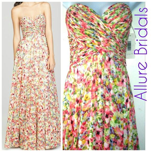 e7b11ef385 NWT Allure Bridals Floral Bridesmaid Gown Dress